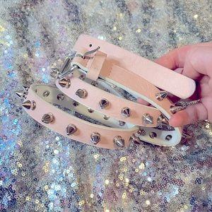 💖Pink studded belt 🖤